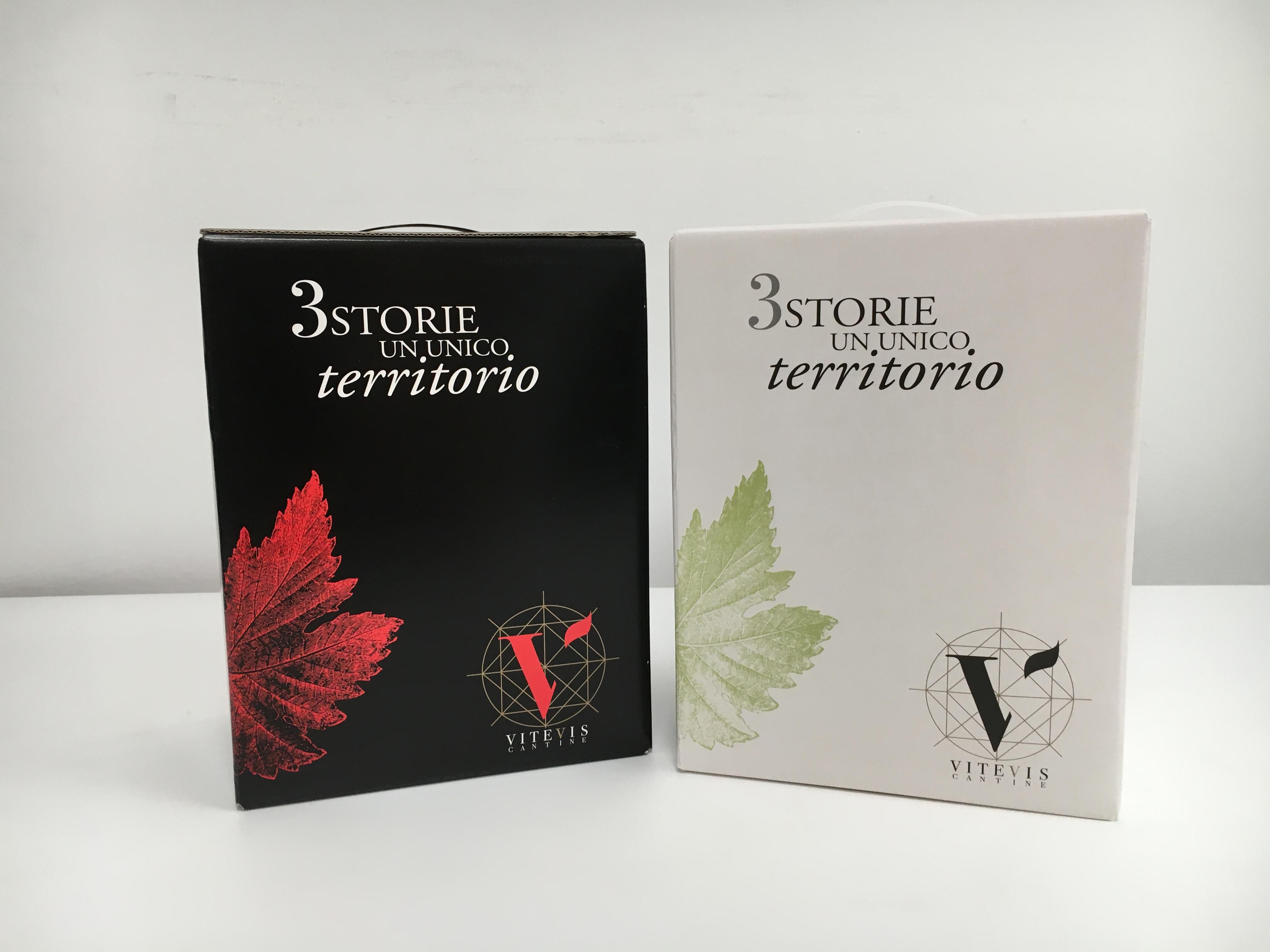 Bag in Box Červené víno Vitevis Vicenza Itálie