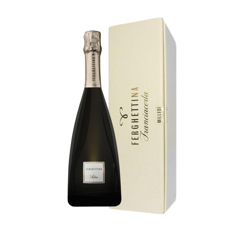 Dárkové balení Franciacorta Satén DOCG, Metodo Classico, Vinařství Fergettina 2015 0,75l 12,5%