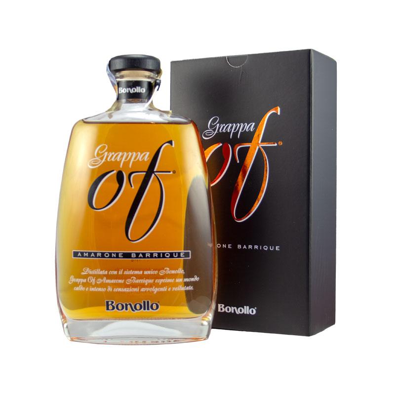 Grappa of Amarone Barrique, Distilleria Bonollo 0,7l, 42% Vol. v dárkovém obalu