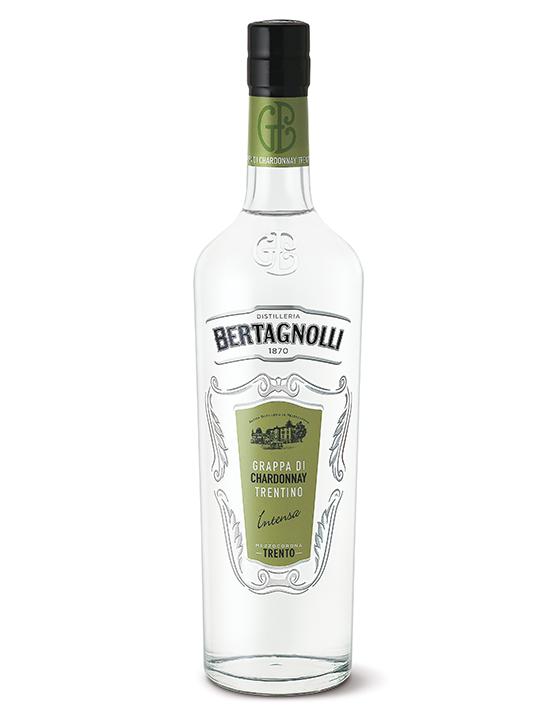 Grappa Chardonnay Bertagnolli 0,7l, 40% Vol.