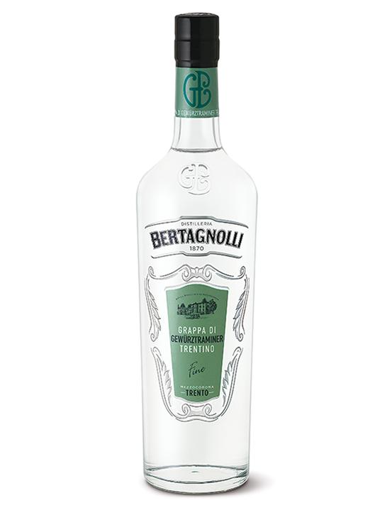 Grappa Gewürztraminer Bertagnolli 0,7l, 40% Vol.