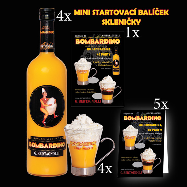 4 x Bombardino G. Bertagnolli 1,0L 17% - mini balíček 50% SLEVA na originál skleničky