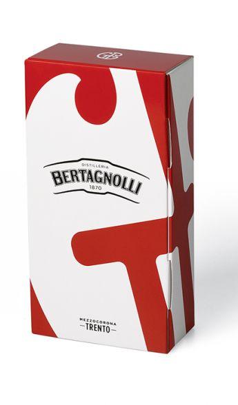 Dárkové balení Grappino bianco Bertagnolli 0,7l, 40% vol.