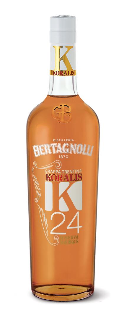 Grappa Koralis K24 Bertagnolli 0,7l, 40% Vol.