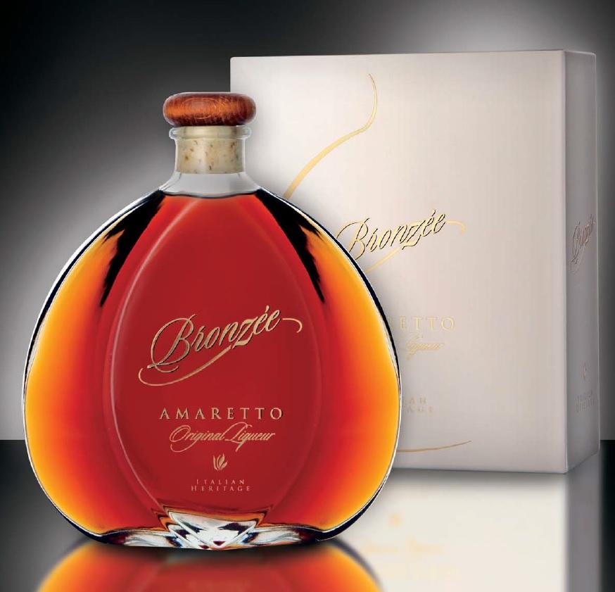 Dárková kazeta Amaretto Bronzeé Marteletti 0,7L 28%
