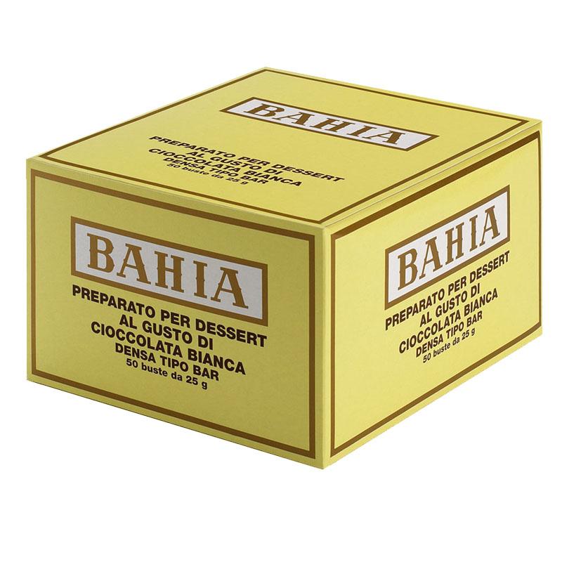 BAHIA sypká směs pro přípravu nápoje s příchutí bílé čokolády jednoporcová 50ks x 23g