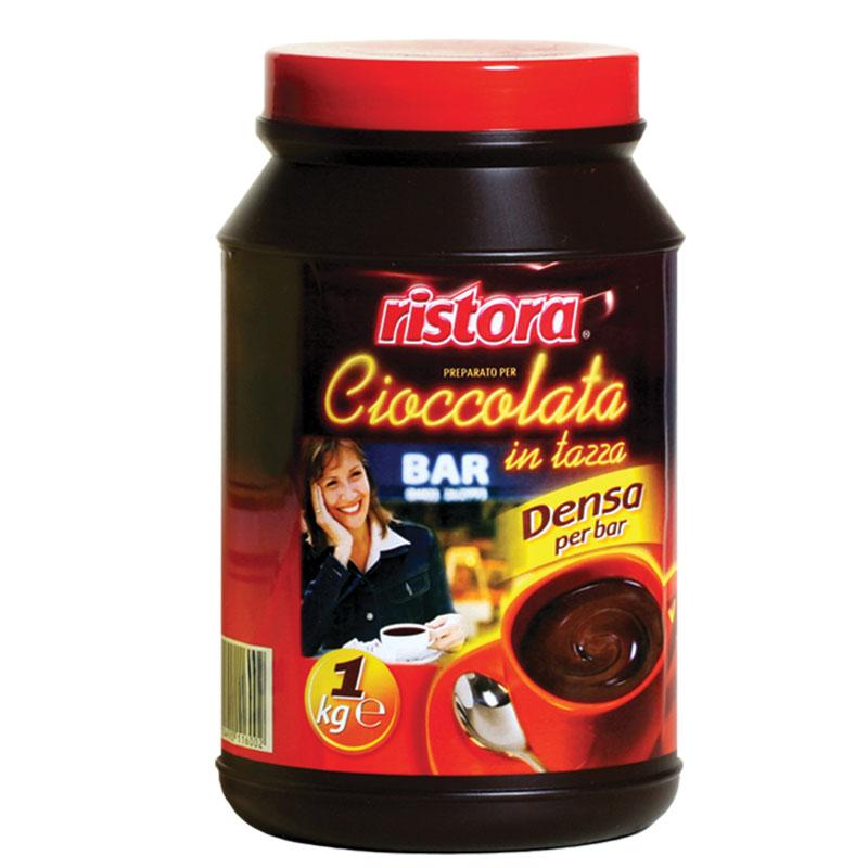 RISTORA směs: sypká směs pro přípravu nápoje s příchutí čokolády 1kg (bez lepku)